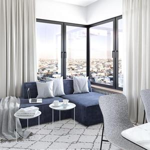 В ЖК Balance уникальные квартиры - с угловым остеклением 7 кв. м