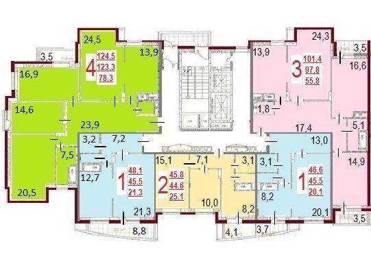 Жк циолковского планировки квартир