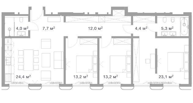 Планировки строение 4