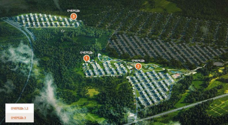 Архитектурный пригород «Южная Долина» генплан №1